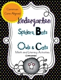 Spiders, Bats, Owls and Cats - A Kindergarten Common Core Aligned Unit