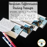 Nonfiction Leveled Reading Passages and Questions - Spider