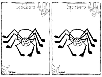 Spiders: Can, Have, Are Foldable