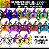 Spiders - Cliparts Set - 13 Items