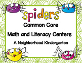Spiders Common Core Literacy and Math Centers
