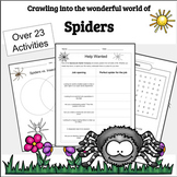 Printable Bugs: Spiders aren't Bugs, but they're Amazing!