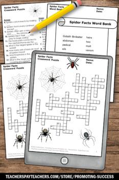 Spiders Science Crossword Puzzle