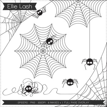 Spiders Digital Clipart