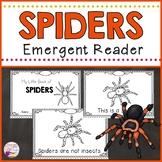 Spiders Emergent Reader