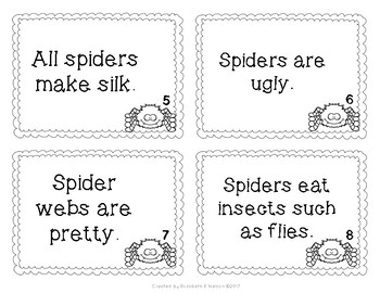 Spiders Fact and Opinion Scoot