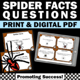 Spiders Science Task Cards, Science Research Project, All About Spiders Facts