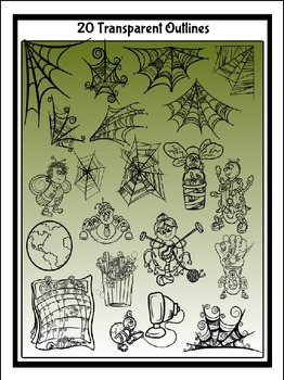Spiders & Flies Clipart (11 FREE Elements Included) Embellish Yourself Artworks