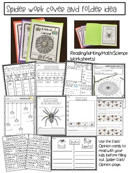 Spiders- Fun with Spiders- Primary Learning Activities
