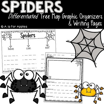 Spiders Tree Map Graphic Organizers & Writing