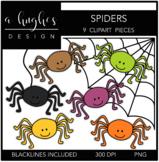 Spiders Clipart {A Hughes Design}