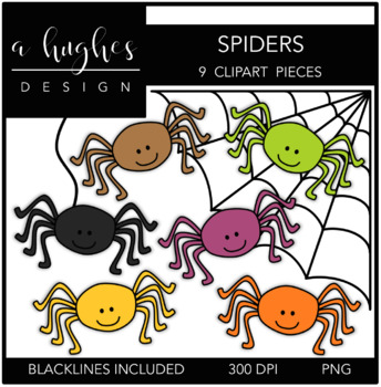 Spiders Clipart {A Hughes Design}
