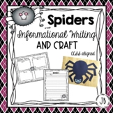 Spiders Informational Writing and Craft