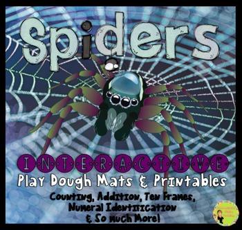 Play Dough Mats & Printables, Math: Spiders