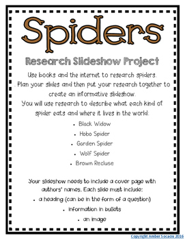 Spiders Interactive Read Aloud and Research Activities Sub Tub