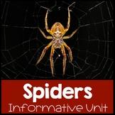Spider Nonfiction Informational Text Unit