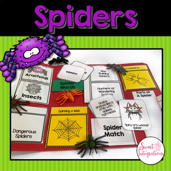 Spiders - Interactive Lapbook Filled With Templates and Sp