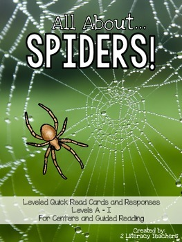 Spiders Leveled Quick Read Card And Response Activities By 2