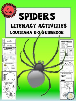 Spiders Literacy Unit 1st Grade for Louisiana K-2 Guidebook