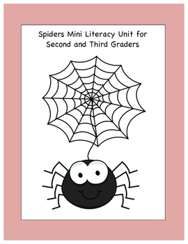 Spiders Literacy Unit for Grades 2-4
