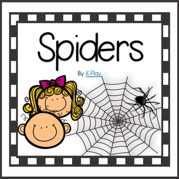 Spiders Literacy and Math Centers Games and Printables