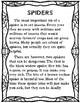 Main Idea and Details - Spiders