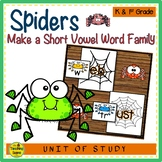 Spiders Make A Short Vowel Word Family Center