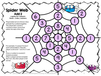 Spider Activities: Spiders Math Games Addition and Subtraction