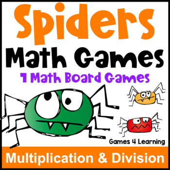 Spider Activities: Spiders Math Games: Multiplication and Division Games