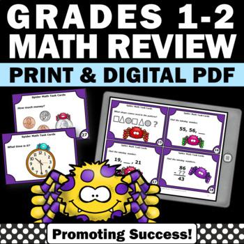 Halloween Math 1st Grade Review Task Cards Math Center Act