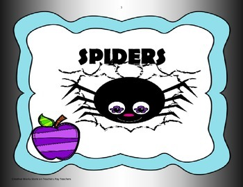 Spiders - 4th Grade Tri folds + Activities