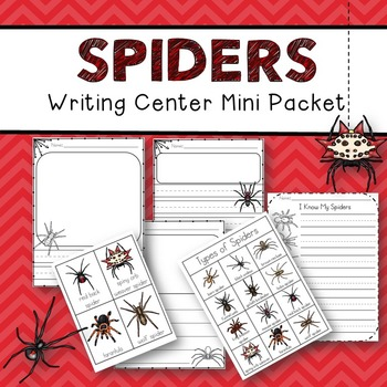 Spiders Writing (Center Packet)
