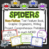 Spiders Non-Fiction Text Features Book, Writing Activity,