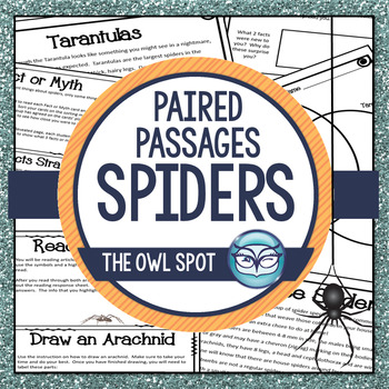 Spiders Nonfiction Reading Passages - Close Reading for Intermediate Grades