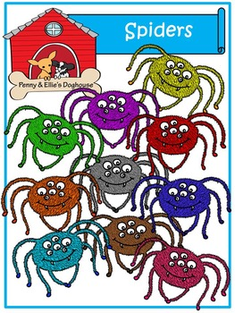 Spiders *Penny & Ellie's Doghouse Clipart*