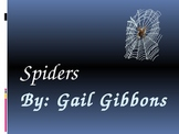 Spiders PowerPoint based on the Gail Gibbons book