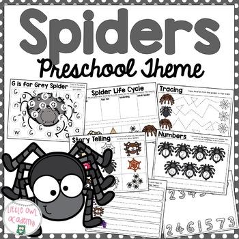 Spiders Preschool Packet