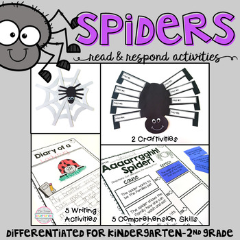 Spiders: Reading Comprehension, Writing and Craftivities
