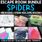 Spiders Reading and Escape Room Bundle