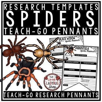 Spiders Research Project & Fall Activities - Arachnids Study Teach- Go Pennants™