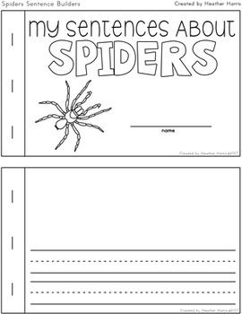 Spiders Sentence Builders