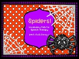 Spiders!  Vocabulary Mats for Speech Therapy