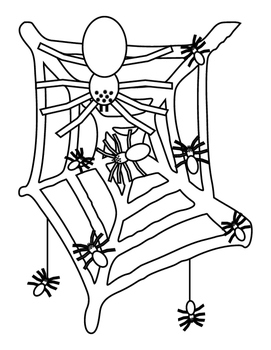 Spiders Web Halloween Fine Motor Coloring Bulletin Board I
