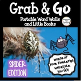 Spiders Word Walls: Portable Word Wall & Little Books, Fal