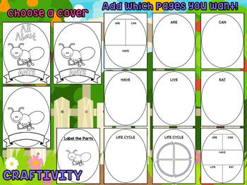 Ants - Writing Craft and Graphic Organizers SET, Book Template, Activity