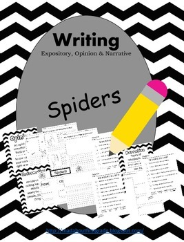 Spiders Writing-Informative Opinion Narrative CCSS