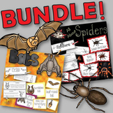 Spiders and Bats BUNDLE Books to Create, Matching Cards, and Posters