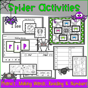 Spiders and Bats: Literacy and Math Unit