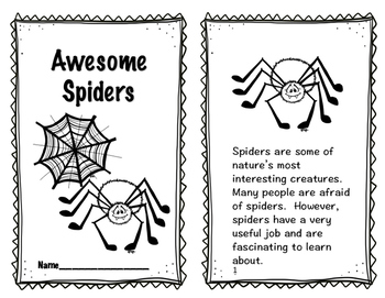 Spiders and Bats Reader, Comprehension, Foldable, STEM Pop-up and More!!