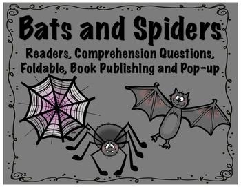 Spiders and Bats Reader, Comprehension, Foldable, STEM Pop
